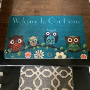 "ADORABLE ""Welcome To Our Home"" owl door mat"